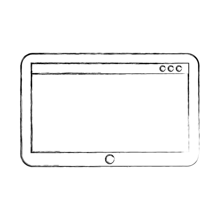 tablet technology device digital electronic wireless vector illustration