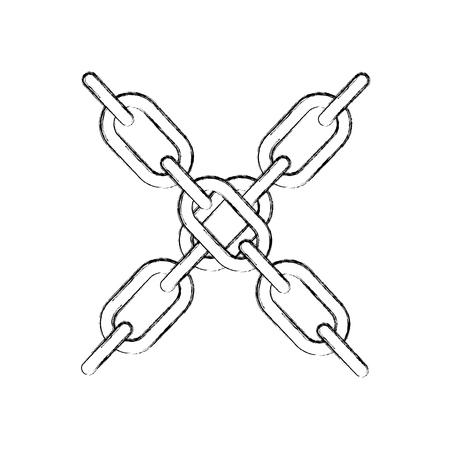 chain blockchain business digital concept vector illustration
