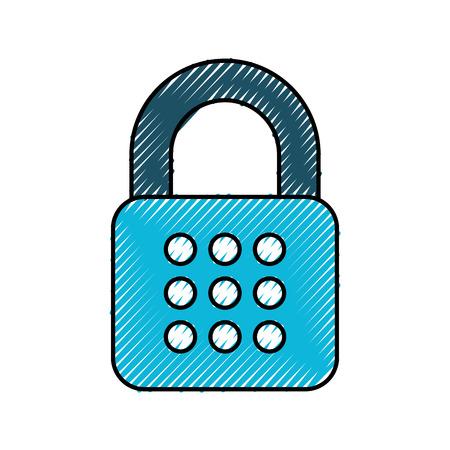 セキュリティ デジタル データ パスワード アクセス保護ベクトル図