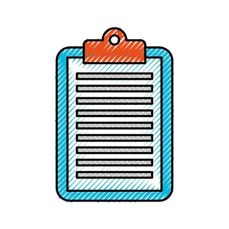 business clipboard paper report document vector illustration Çizim