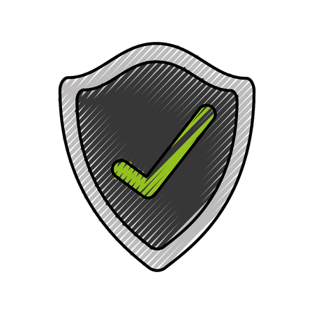 シールド マーク保護セキュリティ insignia 技術ベクトル図