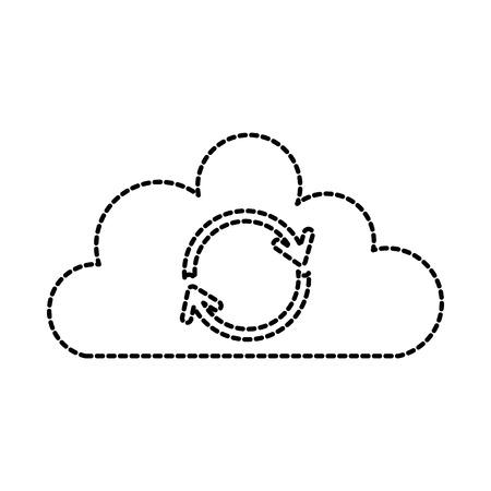 cloud sync verversen backup computing-gegevens pictogram vectorillustratie Stock Illustratie