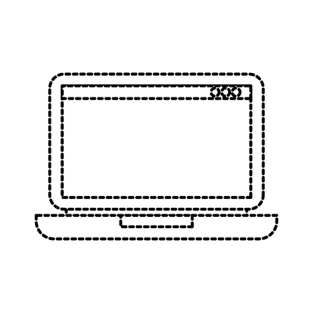 laptop technology device digital electronic wireless vector illustration