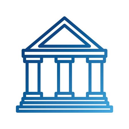 gebouw bank financiële geld opslaan symbool vectorillustratie