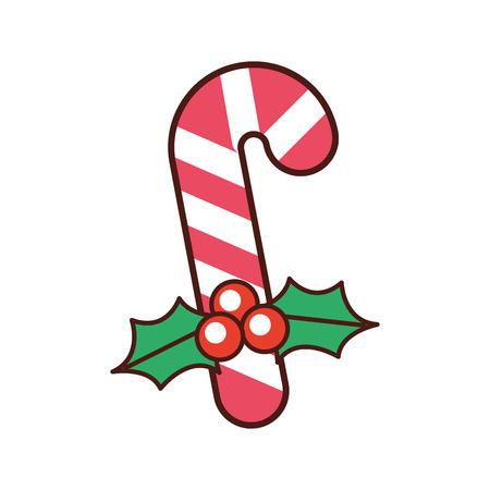 クリスマスキャンディ杖ベリーは、装飾ベクトルイラストを残します