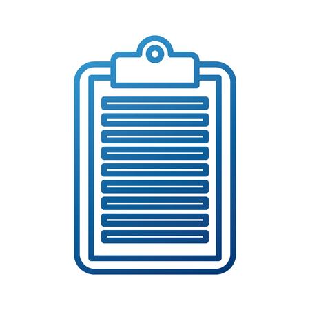 zakelijke klembord papier rapportdocument vectorillustratie