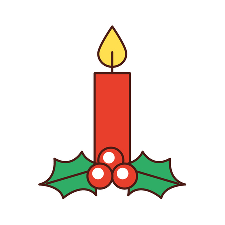 크리스마스 촛불 레코딩 축하 장식 벡터 일러스트 레이션
