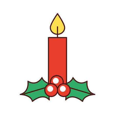 Vela de navidad ardiente celebración decoración ilustración vectorial Foto de archivo - 88403704