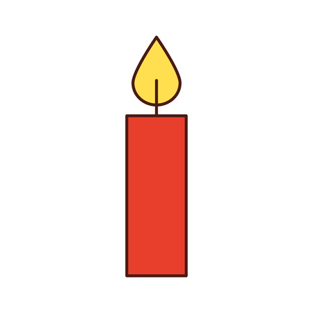 christmas candle burning celebration decoration vector illustration