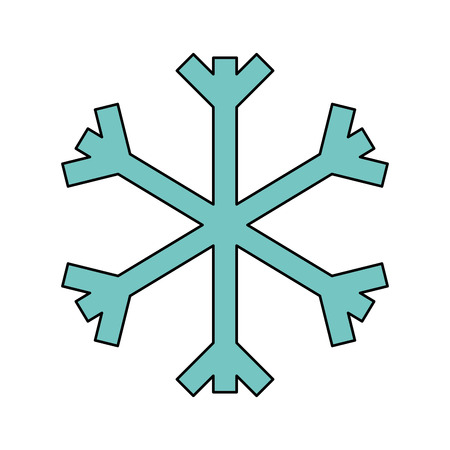 christmas snowflake snow decoration winter symbol vector illustration