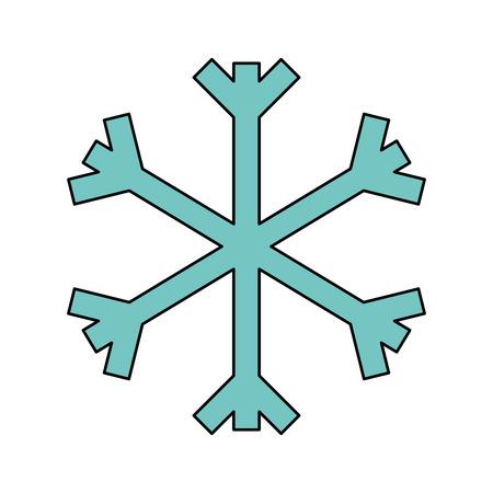 christmas snowflake snow decoration winter symbol vector illustration