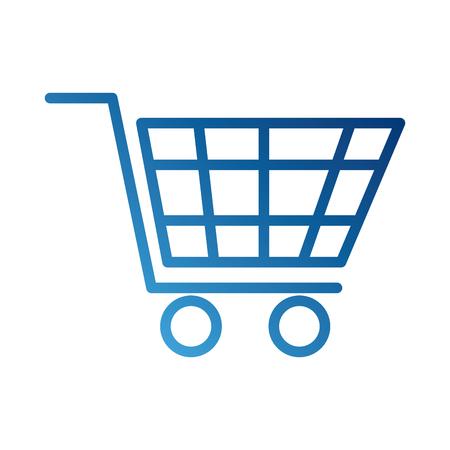 쇼핑 카트 가상 전자 상거래 비즈니스 기호 벡터 일러스트 레이션