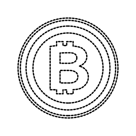 bitcoin currency money virtual technology business vector illustration