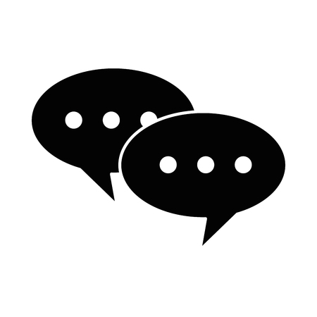 speech bubbles isolated icon vector illustration design Иллюстрация