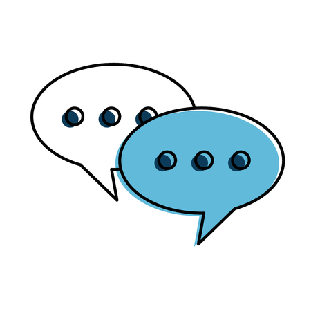 Speech bubbles isolated icon vector illustration design.