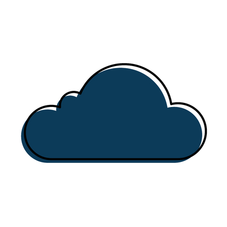 Cloud silhouette isolated icon vector illustration design. Ilustrace