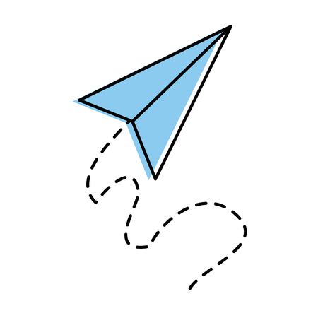 Airplane paper flying icon vector illustration design.