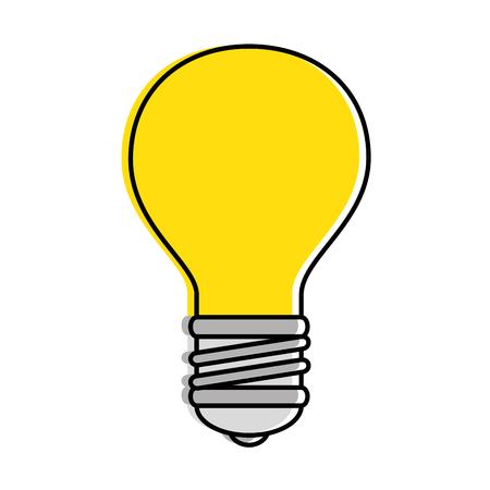 Diseño aislado del ejemplo del vector del icono de la luz de bulbo.
