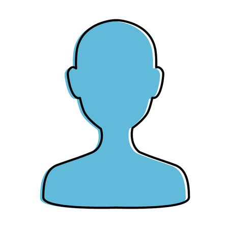 User silhouette avatar icon vector illustration design. Ilustracja