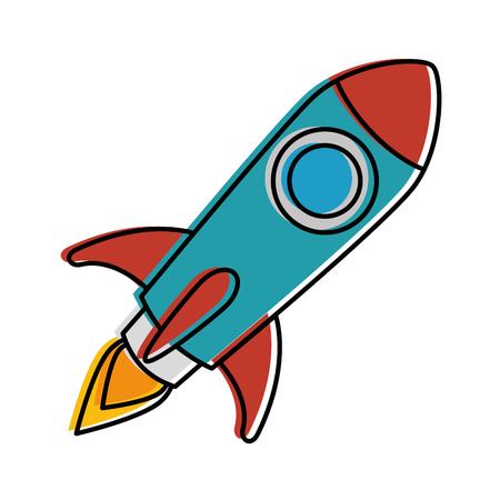 ロケット発射装置アイコン ベクトル イラスト デザインを分離しました。
