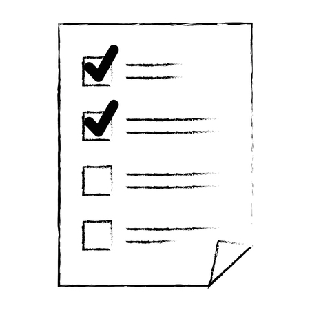 Paper document checklist icon vector illustration design.