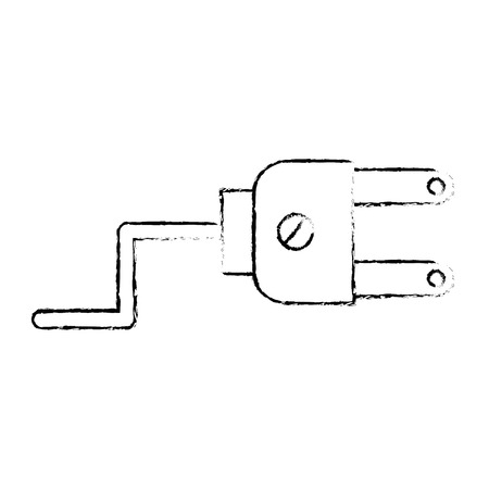 Energy plug connector icon vector illustration design. Ilustração