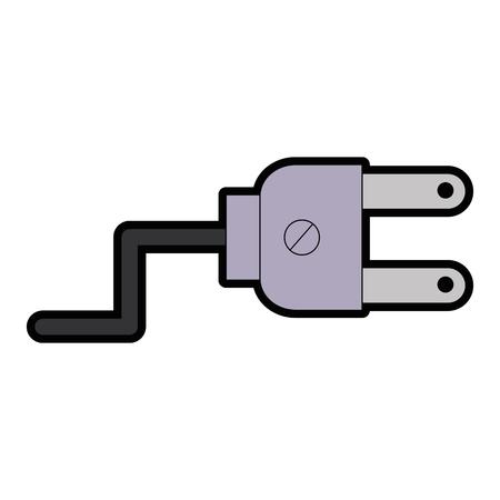 Energy plug connector icon vector illustration design. Çizim