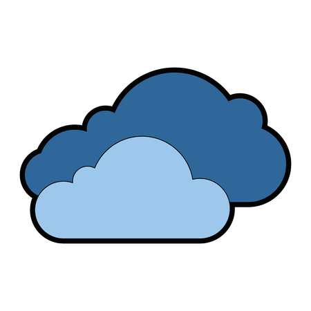 Cloud silhouette isolated icon vector illustration design. Ilustração