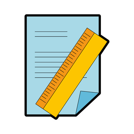 Paper document with rule vector illustration design.