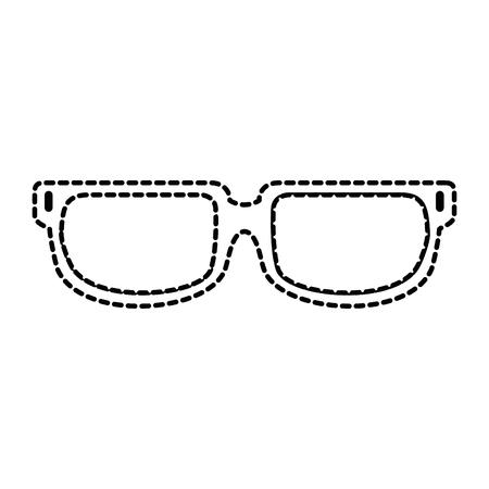 Vector de illustratieontwerp van het oogglazen geïsoleerd pictogram.