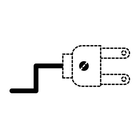 エネルギーはプラグ コネクタ アイコン ベクトル イラスト デザインです。  イラスト・ベクター素材