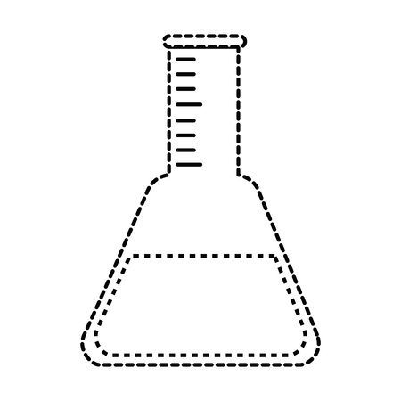 Tube test laboratory isolated icon vector illustration design.