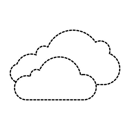 Cloud silhouette isolated icon vector illustration design. Ilustração