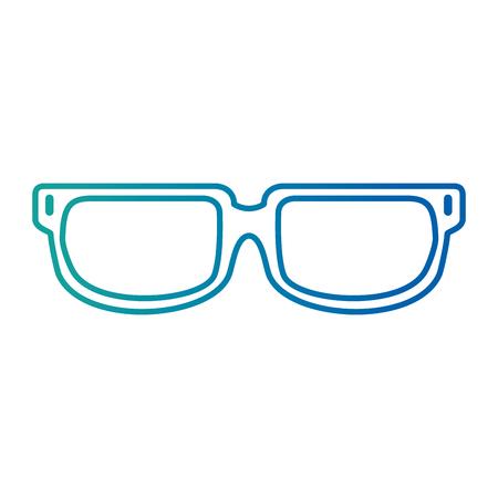 Eye glasses isolated icon vector illustration design.