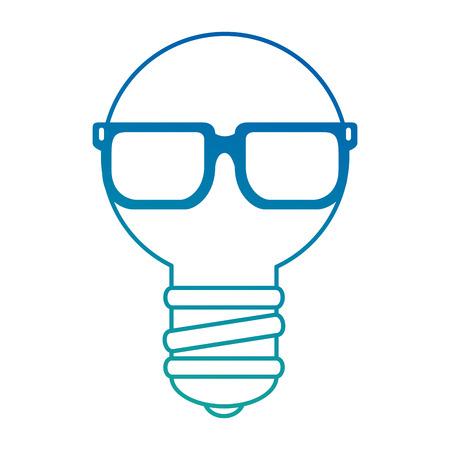 サングラスベクトルイラストデザインの電球ライト。