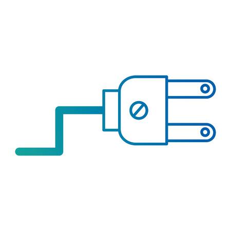 Energy plug connector icon vector illustration design. Ilustração