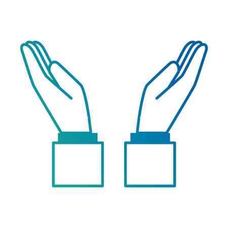 손에 인간의 아이콘 벡터 일러스트 디자인을 보호합니다.
