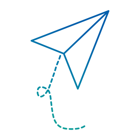 Flugzeug Papier fliegen Symbol Vektor Illustration design Standard-Bild - 88457770