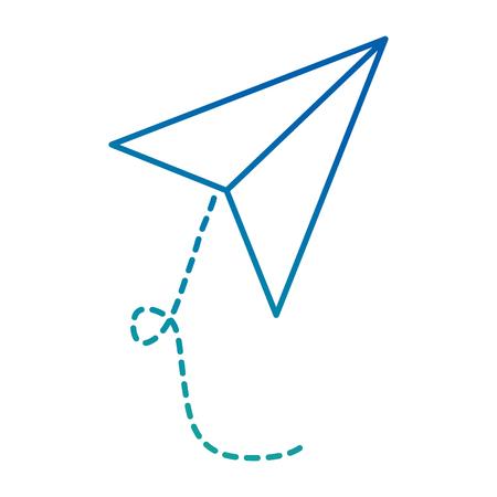Vliegtuigdocument vliegend ontwerp van de pictogram het vectorillustratie.