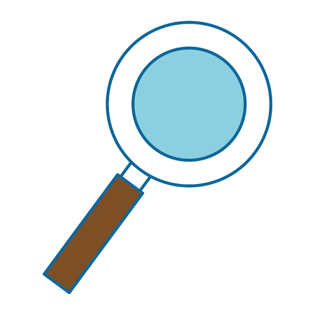 Magnifying glass isolated icon vector illustration design.