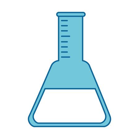 Tube test laboratory isolated icon vector illustration design.