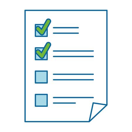 paper document checklist icon vector illustration design