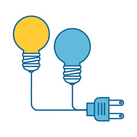 Ampoule avec design d'illustration vectorielle de connecteur.