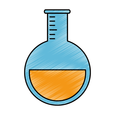tube test laboratory isolated icon vector illustration design 向量圖像
