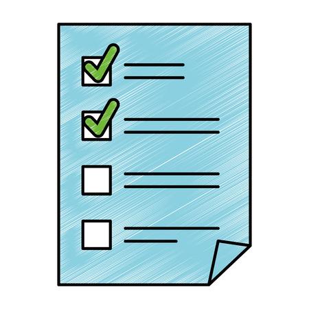 紙文書のチェックリストのアイコン ベクトル イラスト デザイン