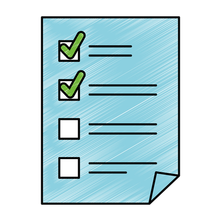 papieren document checklist pictogram vector illustratie ontwerp Stock Illustratie