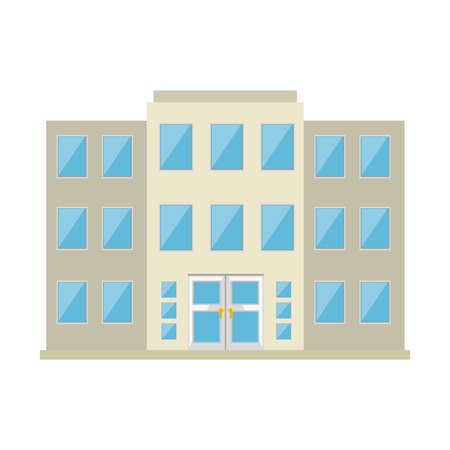 building front isolated icon vector illustration design Ilustrace