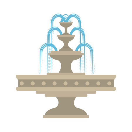 park water fountain icon vector illustration design Çizim