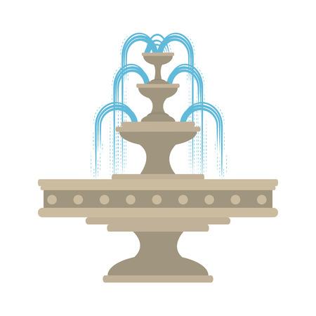 park wodny fontanna ikona wektor ilustracja projekt Ilustracje wektorowe