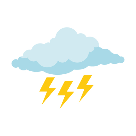 cloud with rays storm vector illustration design Stock Vector - 88408501